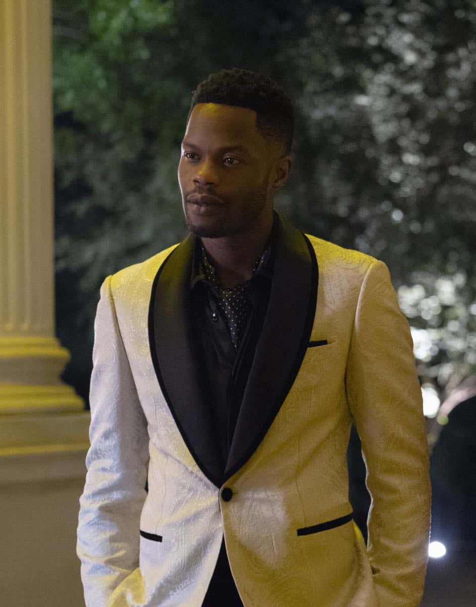 """Dynasty -- """"Twenty-Three Skidoo""""-- Image Number: DYN201a_0462.jpg -- Pictured: Sam Adegoke as Jeff -- Photo: Wilford Harewood/The CW -- © 2018 The CW Network, LLC. All Rights Reserved"""