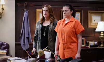 """Crazy Ex Girlfriend -- """"I Want To Be Here"""" -- Image Number: CEG401a_0169.jpg -- Pictured (L-R): Donna Lynne Champlin as Paula and Rachel Bloom as Rebecca -- Photo: Robert Voets/The CW -- © 2018 The CW Network, LLC All Rights Reserved."""