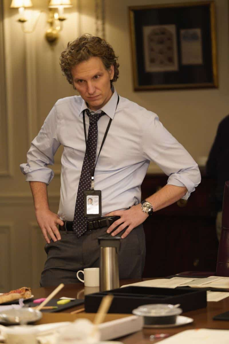 """The Chaos Game"" -- When Elizabeth discovers that the White House attackers had support from overseas, she tries to hunt down those responsible without starting a war. Also, Henry comes face to face with one of the attackers, on MADAM SECRETARY, Sunday, Oct. 14 (10:30-11:30 PM, ET/10:00-11:00 PM, PT) on the CBS Television Network. Pictured Sebastian Arcelus as Jay Whitman. Photo: Sarah Shatz/CBS©2018 CBS Broadcasting, Inc. All Rights Reserved"