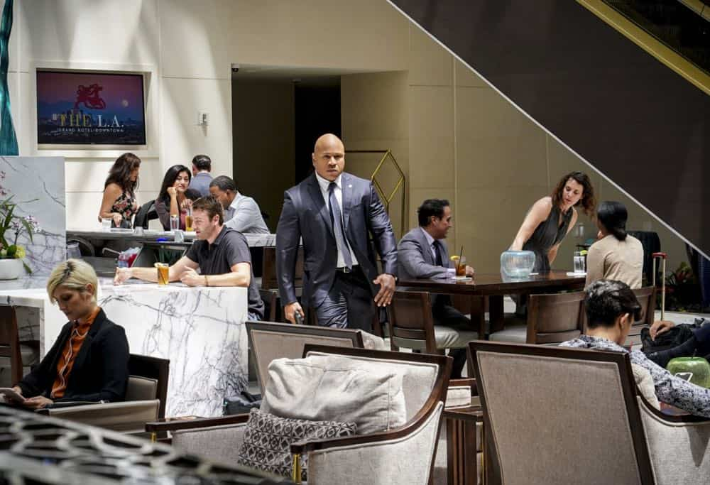 """The Prince"" -- Pictured: LL COOL J (Special Agent Sam Hanna). Callen and Sam are assigned protection duty for Deputy Crown Prince Kamal (Ritesh Rajan) after an unknown assassin targets his decoy upon his arrival in Los Angeles, on NCIS: LOS ANGELES, Sunday, Oct. 14 (9:30-10:30 PM, ET/9:00-10:00 PM, PT) on the CBS Television Network. Photo: Monty Brinton/CBS ©2018 CBS Broadcasting, Inc. All Rights Reserved."