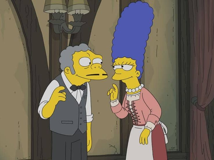 """THE SIMPSONS: God and St. Peter contemplate what merits a soul getting into heaven, while citizens of Springfield remember their divine encounters in the all-new """"My Way or the Highway to Heaven"""" episode of THE SIMPSONS airing Sunday, Oct. 14 (8:00-8:30 PM ET/PT) on FOX. THE SIMPSONS ™ and © 2018 TCFFC ALL RIGHTS RESERVED."""