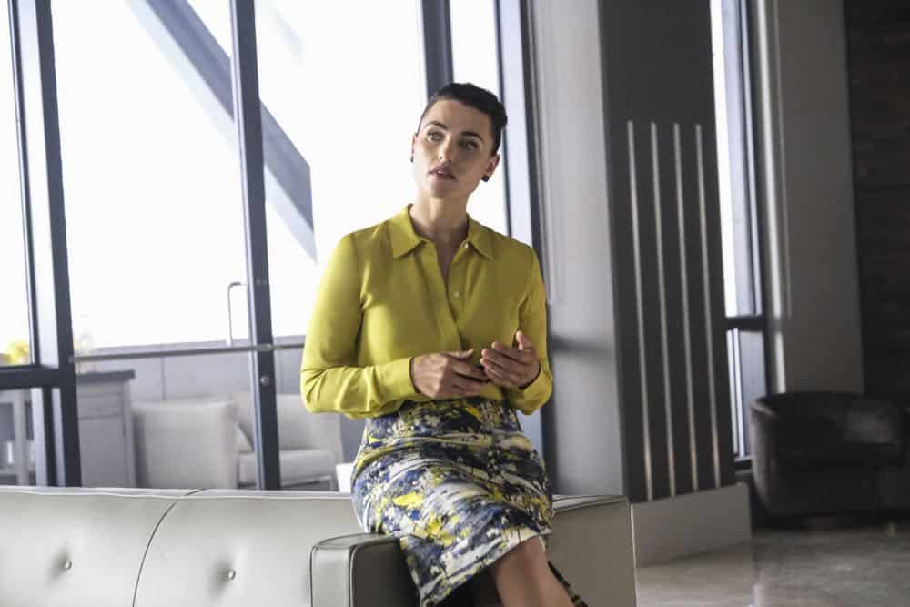 """Supergirl -- """"American Alien"""" -- Image Number: SPG401a_0063b.jpg -- Pictured: Katie McGrath as Lena Luther -- Photo: Bettina Strauss/The CW -- © 2018 The CW Network, LLC. All Rights Reserved."""
