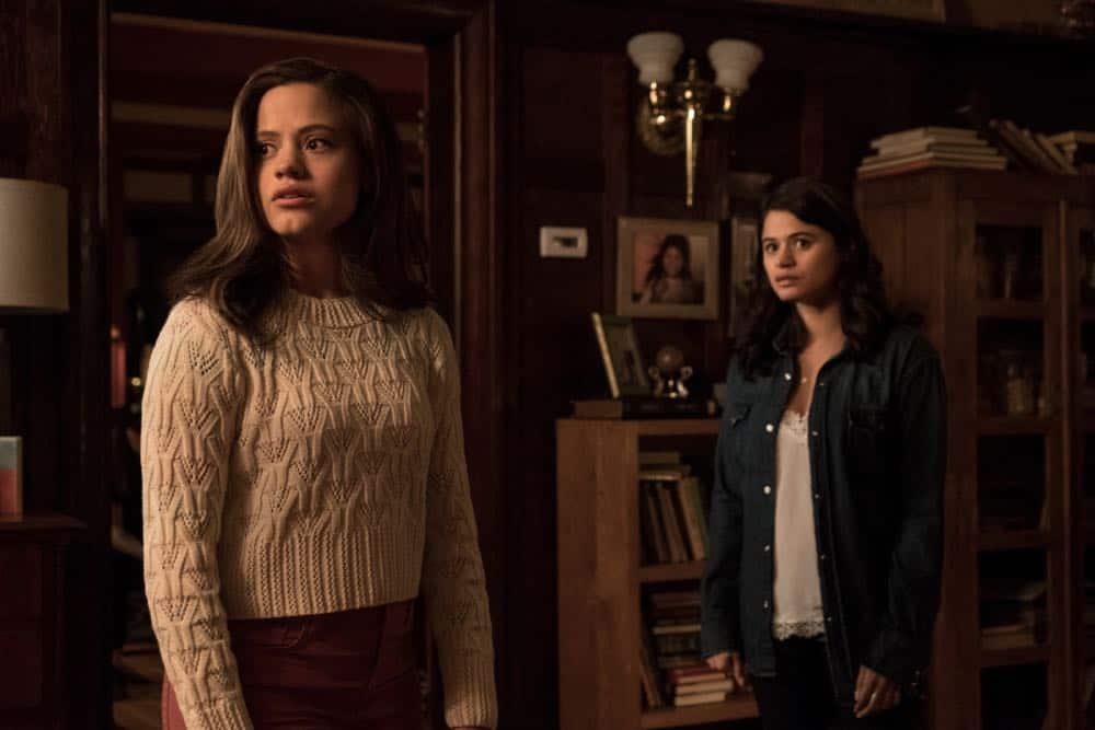 "Charmed -- ""Pilot""-- Image Number: CMD101b_0102rb.jpg -- Pictured (L-R): Sarah Jeffery as Maggie Vera and Melonie Diaz as Mel Vera -- Photo: Katie Yu/The CW -- © 2018 The CW Network, LLC. All Rights Reserved."