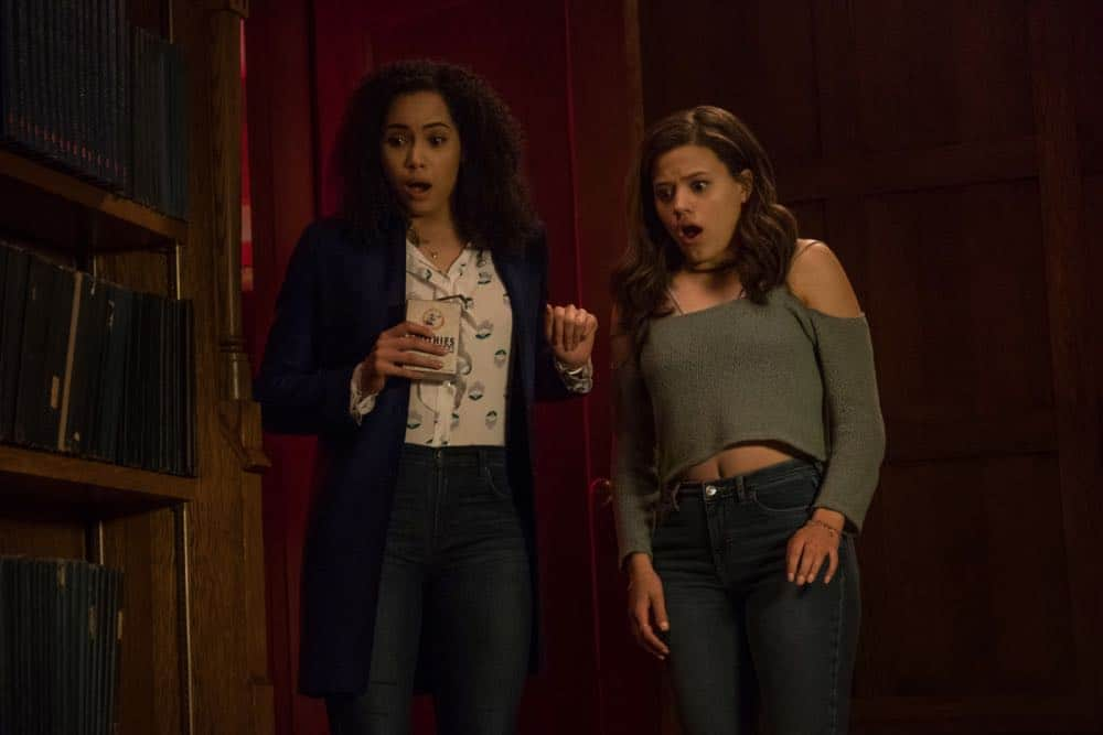 "Charmed -- ""Pilot""-- Image Number: CMD101e_0244.jpg -- Pictured (L-R): Madeleine Mantock as Macy Vaughn and Sarah Jeffery as Maggie Vera -- Photo: Katie Yu/The CW -- © 2018 The CW Network, LLC. All Rights Reserved."