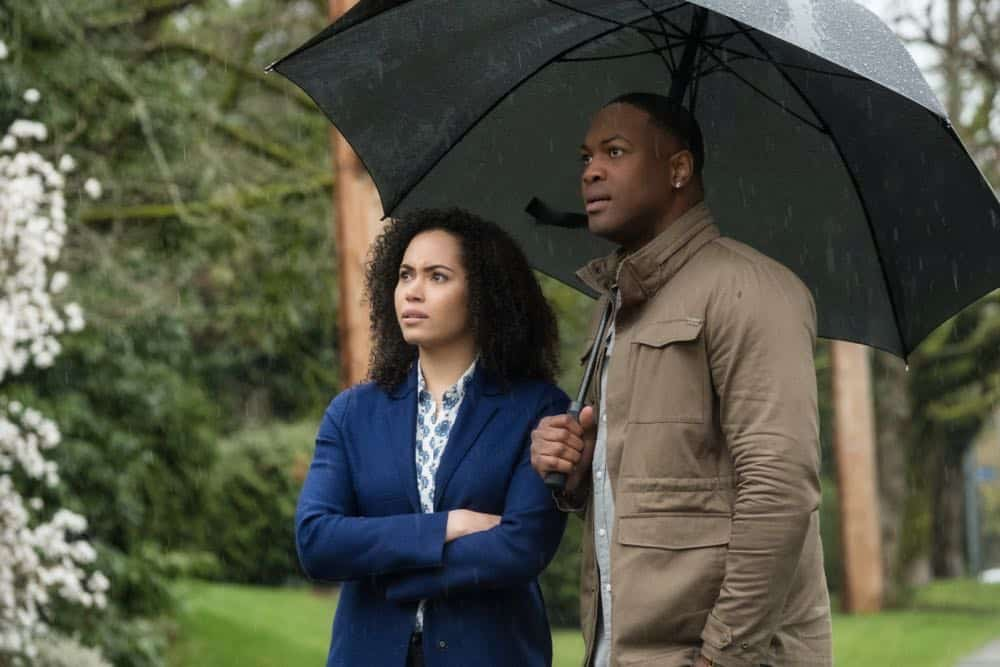 "Charmed -- ""Pilot""-- Image Number: CMD101f_0136.jpg -- Pictured (L-R): Madeleine Mantock as Macy Vaughn and Ser' Darius Blain as Galvin -- Photo: Katie Yu/The CW -- © 2018 The CW Network, LLC. All Rights Reserved."