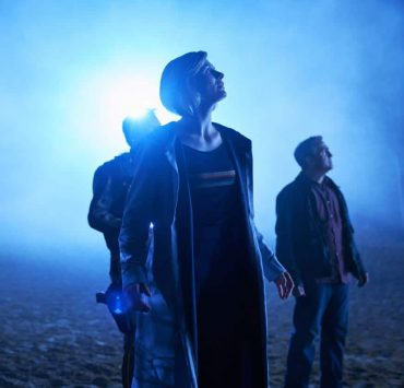 Picture shows: Epzo (SHAUN DOOLEY), The Doctor (JODIE WHITTAKER), Graham (BRADLEY WALSH).
