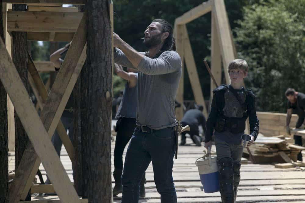 Zach McGowan as Justin, Macsen Lintz as Henry- The Walking Dead _ Season 9, Episode 2 - Photo Credit: Jackson Lee Davis/AMC