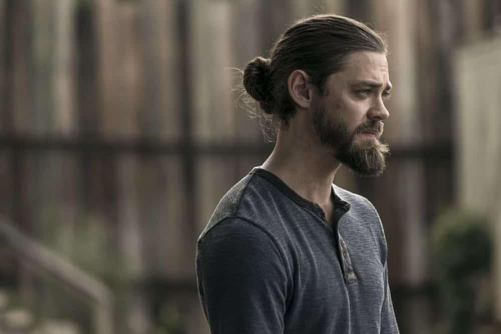 Tom Payne as Paul 'Jesus' Rovia- The Walking Dead _ Season 9, Episode 2 - Photo Credit: Jackson Lee Davis/AMC