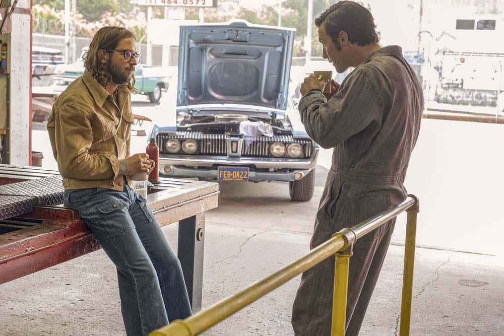 "THIS IS US -- ""Vietnam"" Episode 304 -- Pictured: (l-r) Michael Angarano as Nicky, Milo Ventimiglia as Jack Pearson -- (Photo by: Ron Batzdorff/NBC)"