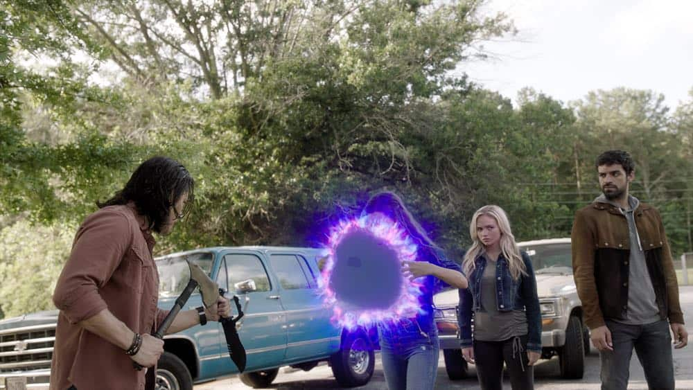 "THE GIFTED: L-R:  Blair Redford, Jamie Chung, Natalie Alyn Lind and Sean Teale in the ""outMatched"" episode of THE GIFTED airing Tuesday, Oct. 16 (8:00-9:00 PM ET/PT) on FOX. ©2018 Fox Broadcasting Co. Cr:  FOX."