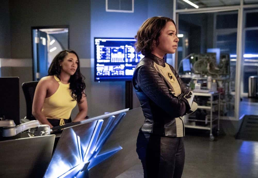 "The Flash -- ""Blocked"" -- Image Number: FLA502a_0155bb.jpg -- Pictured (L-R): Candice Patton as Iris West - Allen and Jessica Parker Kennedy as Nora West - Allen/XS -- Photo: Jack Rowand/The CW -- © 2018 The CW Network, LLC. All rights reserved"