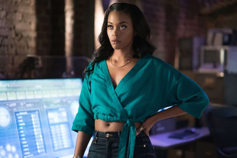 "Black Lightning -- ""The Book Of Consequences: Chapter Two: Black Jesus Blues"" -- Image BLK202c_0322r.jpg -- Pictured: Nafessa Williams as Anissa -- Photo: Annette Brown/The CW -- © 2018 The CW Network, LLC. All rights reserved"