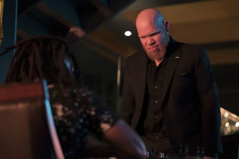 "Black Lightning -- ""The Book Of Consequences: Chapter Two: Black Jesus Blues"" -- Image BLK202c_0077b.jpg -- Pictured: Marvin ""Krondon"" Jones III as Tobias -- Photo: Annette Brown/The CW -- © 2018 The CW Network, LLC. All rights reserved"