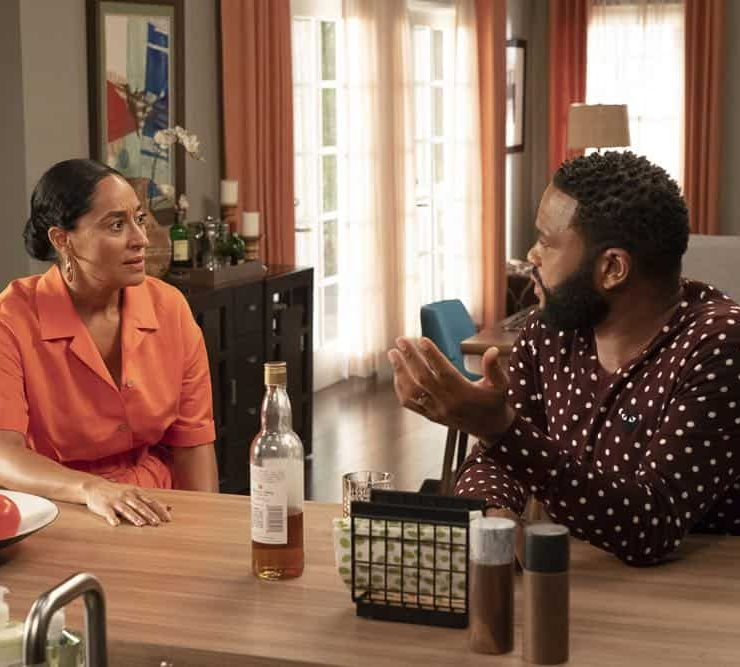 "BLACK-ISH - ""Gap Year"" - After dropping Junior off at college, Dre and Bow are beside themselves when they find him back at home announcing his decision to take a gap year. Meanwhile, Jack and Diane begin to question whether they should still be sharing a room on the season premiere of ""black-ish,"" TUESDAY, OCT. 16 (9:00-9:30 p.m. EDT), on The ABC Television Network. (ABC/Ron Tom)"
