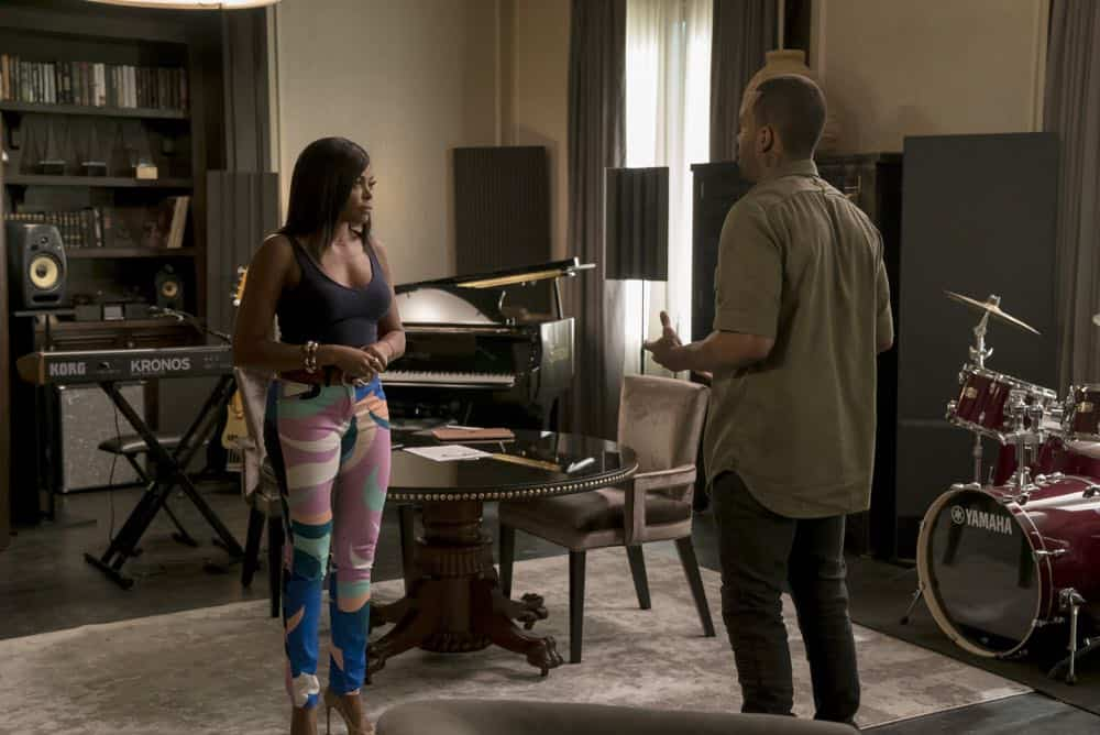 "EMPIRE: L-R: Taraji P. Henson and guest star Mario in the ""Love All, Trust A Few"" episode of EMPIRE airing Wednesday, Oct. 17 (8:00-9:00 PM ET/PT) on FOX. @2018 Fox Broadcasting Co. CR: Chuck Hodes/FOX."