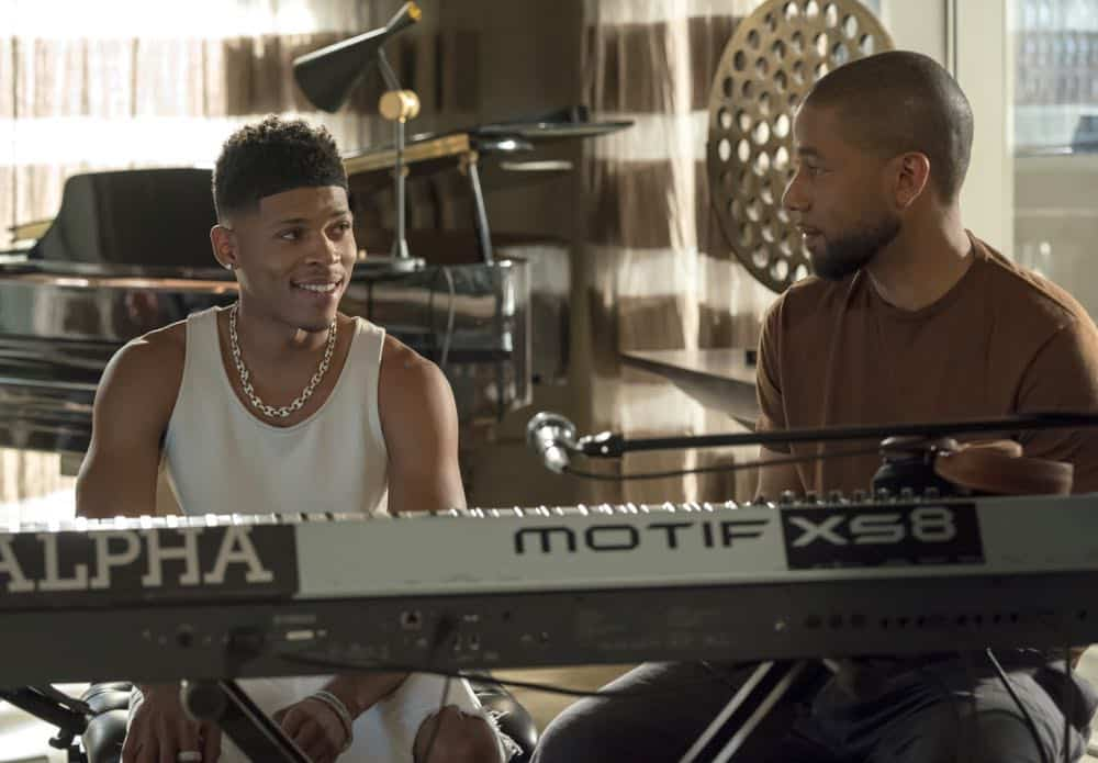 "EMPIRE: L-R: Bryshere Y. Gray and Jussie Smollett in the ""Love All, Trust A Few"" episode of EMPIRE airing Wednesday, Oct. 17 (8:00-9:00 PM ET/PT) on FOX. @2018 Fox Broadcasting Co. CR: Chuck Hodes/FOX."
