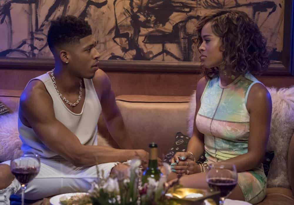 "EMPIRE: L-R: Bryshere Y. Gray and Serayah in the ""Love All, Trust A Few"" episode of EMPIRE airing Wednesday, Oct. 17 (8:00-9:00 PM ET/PT) on FOX. @2018 Fox Broadcasting Co. CR: Chuck Hodes/FOX."