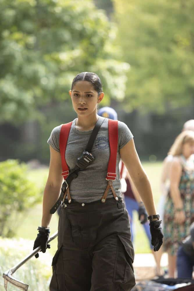 """CHICAGO FIRE -- """"This Isn't Charity"""" Episode 704 -- Pictured: Miranda Rae Mayo as Stella Kidd -- (Photo by: Adrian Burrows/NBC)"""