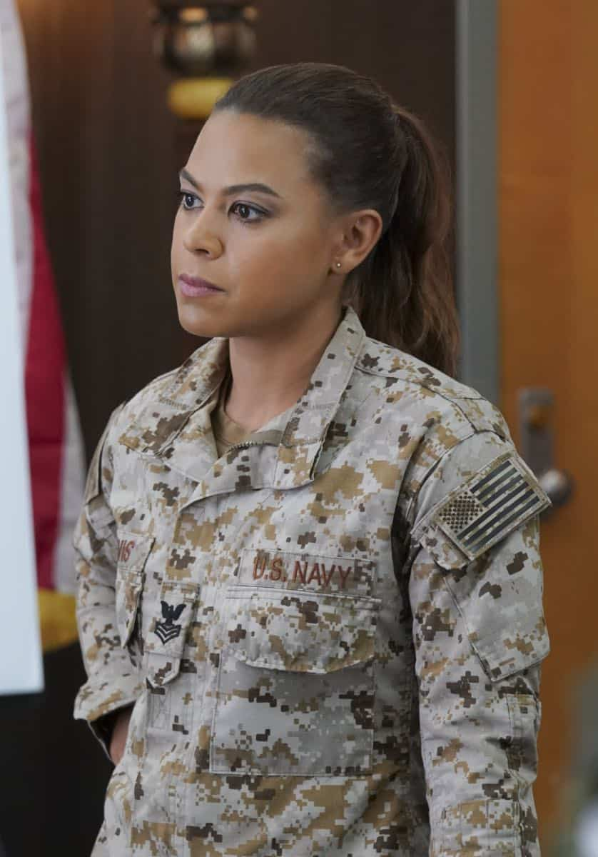 """""""The Worst of Conditions"""" After tragedy strikes, Jason is faced with a huge decision regarding his future with Bravo Team, on SEAL TEAM, Wednesday, Oct. 17 (9:00-10:00 PM, ET/PT) on the CBS Television Network. Pictured: Toni Trucks as Lisa Davis. Photo: MontyBrinton/CBS ©2018 CBS Broadcasting, Inc. All Rights Reserved"""