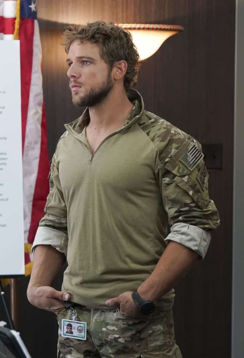 """""""The Worst of Conditions"""" After tragedy strikes, Jason is faced with a huge decision regarding his future with Bravo Team, on SEAL TEAM, Wednesday, Oct. 17 (9:00-10:00 PM, ET/PT) on the CBS Television Network. Pictured: Max Thieriot as Clay Spenser. Photo: MontyBrinton/CBS ©2018 CBS Broadcasting, Inc. All Rights Reserved"""