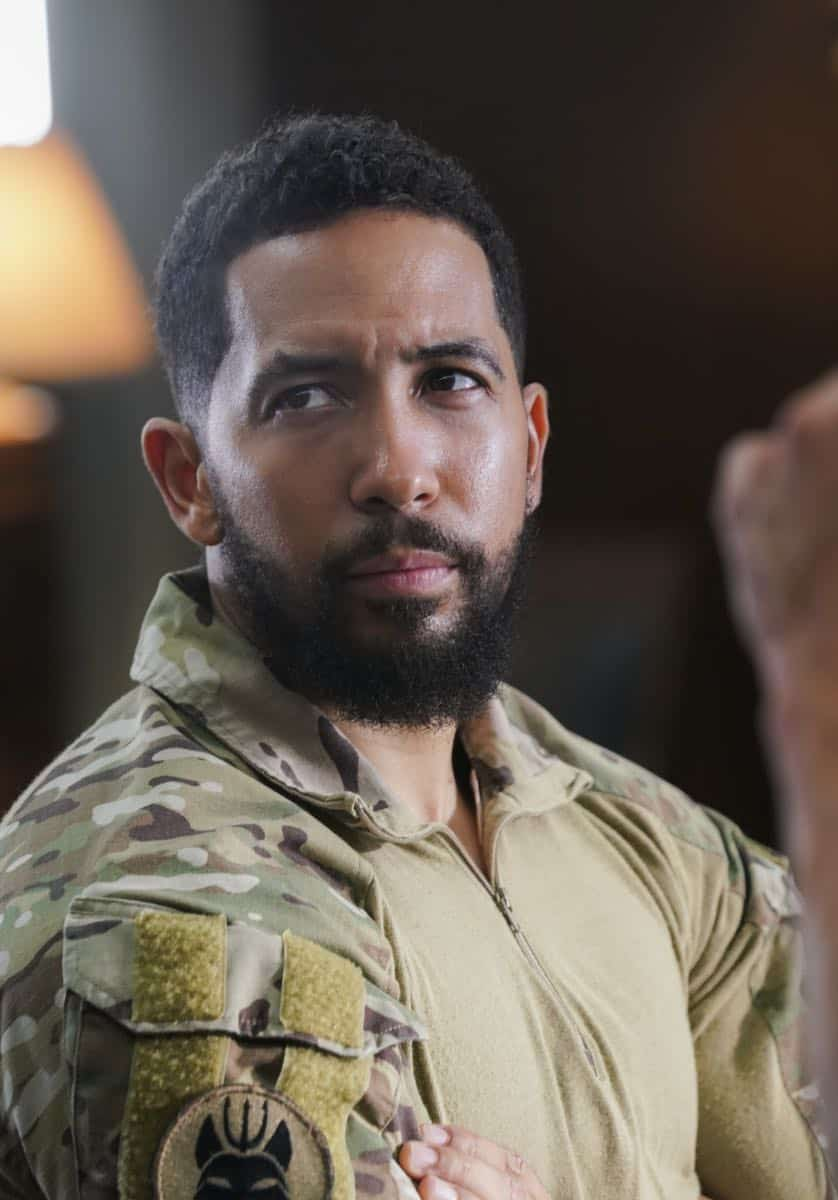 """The Worst of Conditions"" -- After tragedy strikes, Jason is faced with a huge decision regarding his future with Bravo Team, on SEAL TEAM, Wednesday, Oct. 17 (9:00-10:00 PM, ET/PT) on the CBS Television Network. Pictured: Neil Brown Jr. as Ray Perry. Photo: MontyBrinton/CBS ©2018 CBS Broadcasting, Inc. All Rights Reserved"