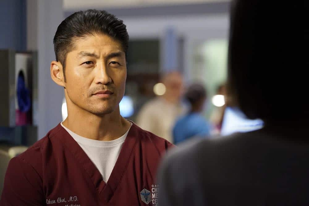 "CHICAGO MED -- ""Backed Against The Wall"" Episode 404 -- Pictured: Brian Tee as Ethan Choi -- (Photo by: Elizabeth Sisson/NBC)"