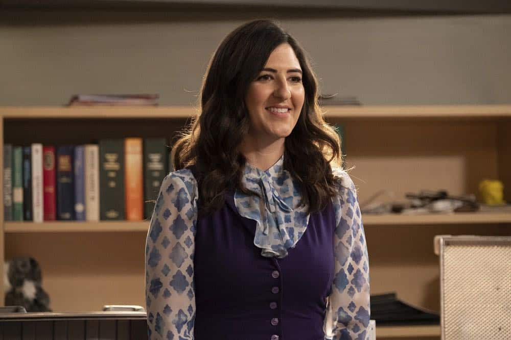 "THE GOOD PLACE -- ""Jeremy Bearimy"" Episode 305 -- Pictured: D?Arcy Carden as Janet -- (Photo by: Colleen Hayes/NBC)"
