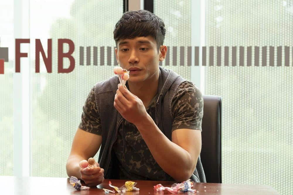 "THE GOOD PLACE -- ""Jeremy Bearimy"" Episode 305 -- Pictured: Manny Jacinto as Jason Mendoza -- (Photo by: Colleen Hayes/NBC)"
