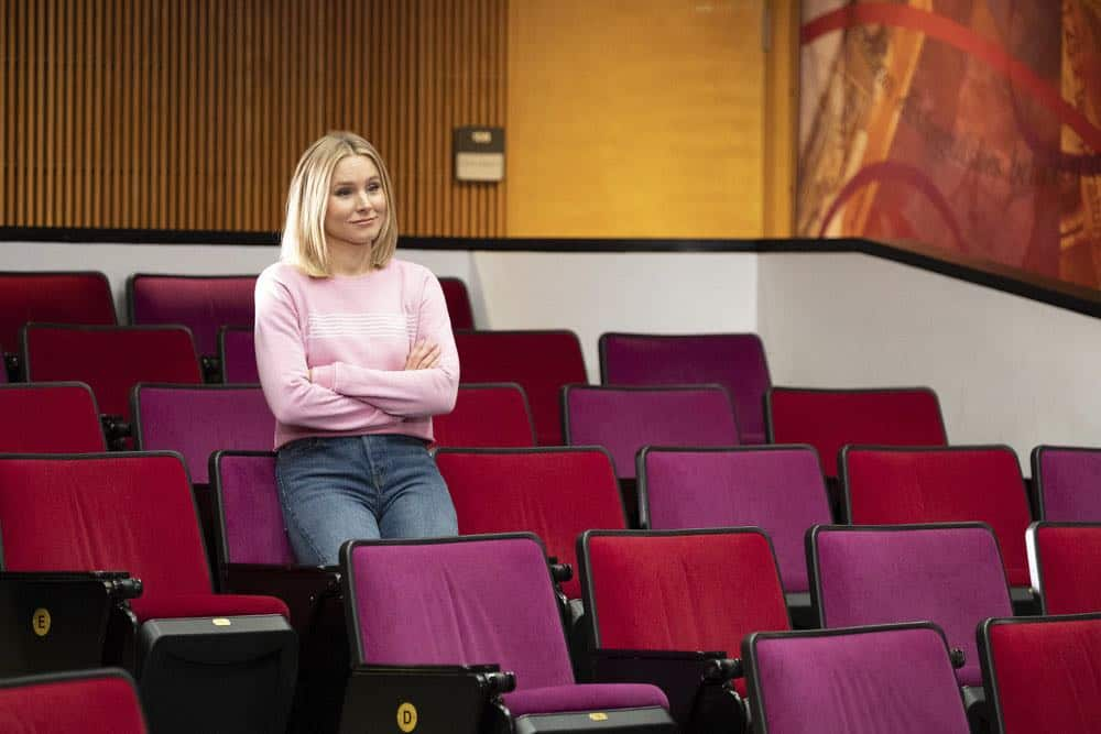 """THE GOOD PLACE -- """"Jeremy Bearimy"""" Episode 305 -- Pictured: Kristen Bell as Eleanor Shellstrop -- (Photo by: Colleen Hayes/NBC)"""