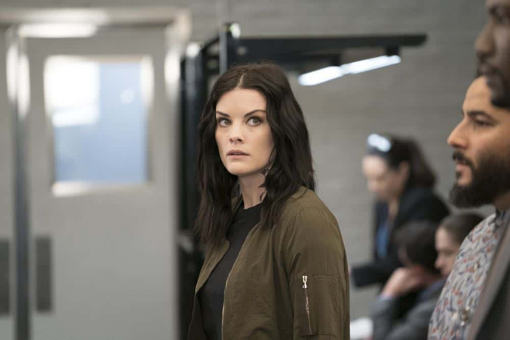 "BLINDSPOT -- ""My Art Project"" Episode 402 -- Pictured: Jaimie Alexander as Jane Doe -- (Photo by: Scott Gries/NBC/Warner Bros."