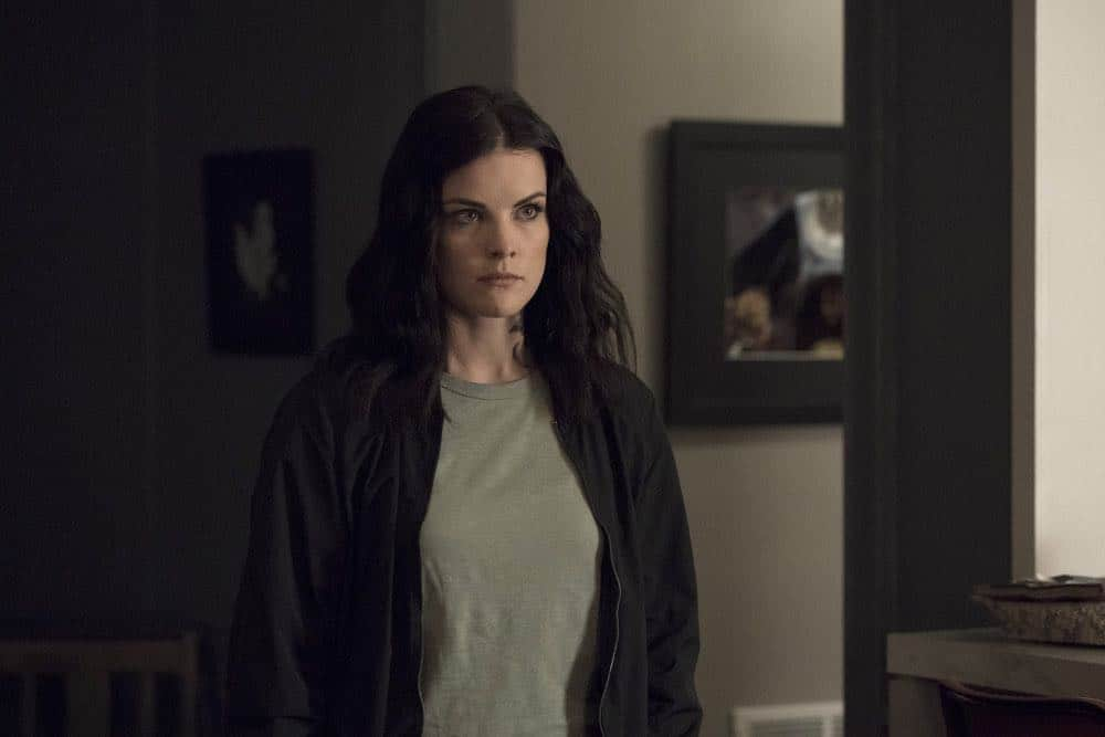 "BLINDSPOT -- ""My Art Project"" Episode 402 -- Pictured: Jaimie Alexander as Jane Doe -- (Photo by: Virginia Sherwood/NBC)"