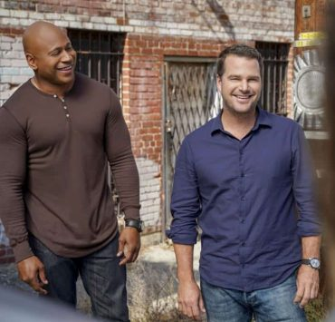 """""""Hit List"""" -- Pictured: LL COOL J (Special Agent Sam Hanna) and Chris O'Donnell (Special Agent G. Callen). The NCIS team is in danger after their pictures, as well as Mosley and her son's names, are included on a cartel hit list. Also, NCIS Deputy Director Louis Ochoa (Esai Morales) arrives with Special Prosecutor John Rogers (Peter Jacobson) to interview Mosley about the off-the-books mission in Mexico, on NCIS: LOS ANGELES, Sunday, Oct. 21 (9:30-10:30 PM, ET/9:00-10:00 PM, PT) on the CBS Television Network. Gerald McRaney guest stars as Retired Navy Admiral Hollace Kilbride. Photo: Sonja Flemming/CBS ©2018 CBS Broadcasting, Inc. All Rights Reserved."""
