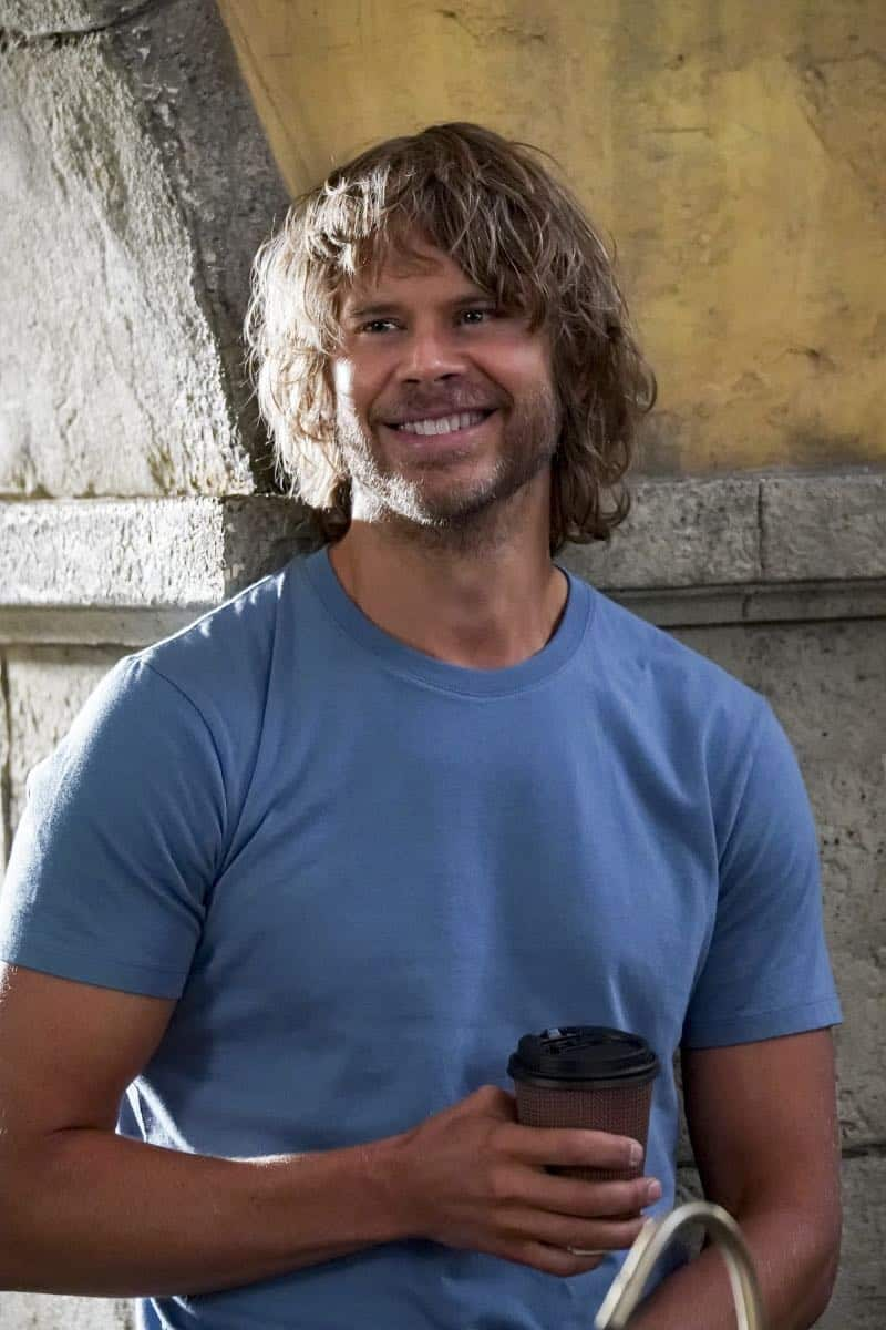 """Hit List"" -- Pictured: Eric Christian Olsen (LAPD Liaison Marty Deeks). The NCIS team is in danger after their pictures, as well as Mosley and her son's names, are included on a cartel hit list. Also, NCIS Deputy Director Louis Ochoa (Esai Morales) arrives with Special Prosecutor John Rogers (Peter Jacobson) to interview Mosley about the off-the-books mission in Mexico, on NCIS: LOS ANGELES, Sunday, Oct. 21 (9:30-10:30 PM, ET/9:00-10:00 PM, PT) on the CBS Television Network. Gerald McRaney guest stars as Retired Navy Admiral Hollace Kilbride. Photo: Monty Brinton/CBS ©2018 CBS Broadcasting, Inc. All Rights Reserved."
