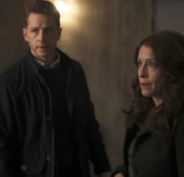 "MANIFEST -- ""Connecting Flights"" Episode 105 -- Pictured: (l-r) Josh Dallas as Ben Stone, Eva Kaminsky as Georgia -- (Photo by: Craig Blankenhorn/NBC/Warner Brothers)"
