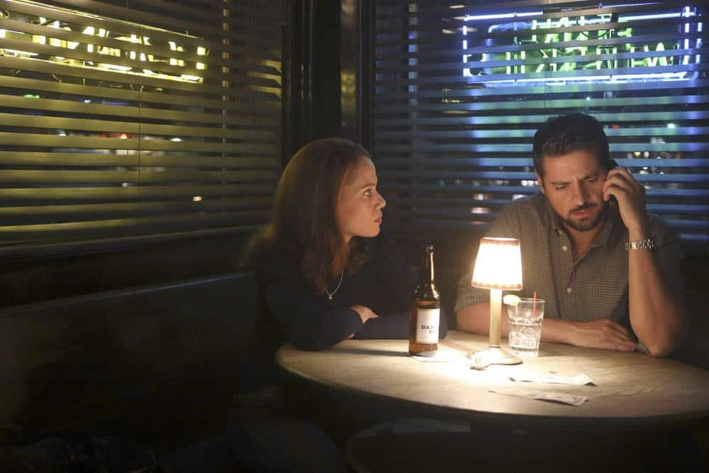 "MANIFEST -- ""Connecting Flights"" Episode 105 -- Pictured: (l-r) Victoria Cartagena as Lourdes, J.R. Ramirez as Jared Vasquez -- (Photo by: Craig Blankenhorn/NBC/Warner Brothers)"