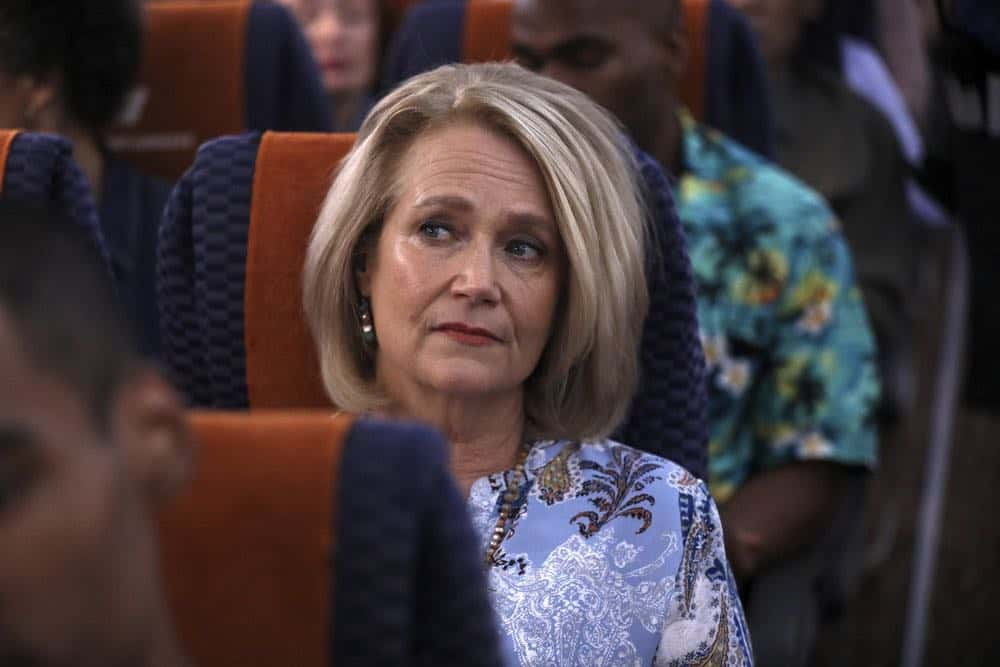 "MANIFEST -- ""Connecting Flights"" Episode 105 -- Pictured: Geraldine Leer as Karen Stone -- (Photo by: Craig Blankenhorn/NBC/Warner Brothers)"