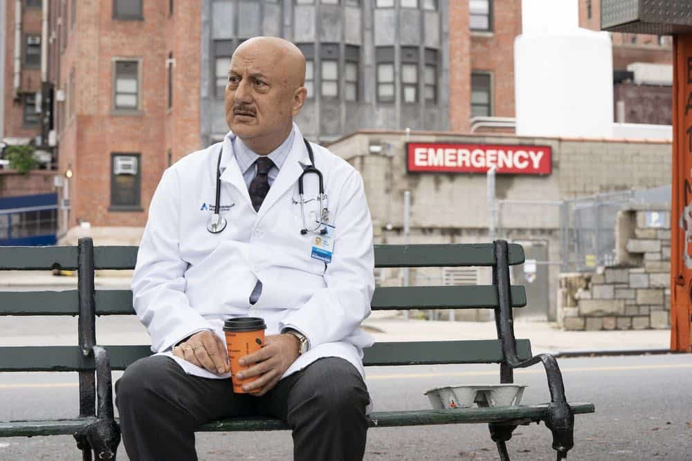 """NEW AMSTERDAM -- """"Cavitation"""" Episode 105 -- Pictured: Anupam Kher as Dr. Vijay Kapoor -- (Photo by: Virginia Sherwood/NBC)"""