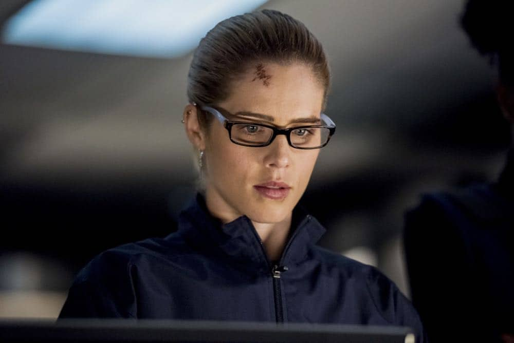 "Arrow -- ""Crossing Lines"" -- Image Number: AR703b_0176b -- Pictured: Emily Bett Rickards as Felicity Smoak -- Photo: Dean Buscher/The CW -- © 2018 The CW Network, LLC. All Rights Reserved."