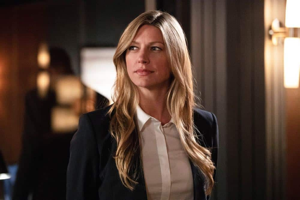"DC's Legends of Tomorrow -- ""Witch Hunt"" -- Image Number: LGN402a_0394b.jpg -- Pictured: Jes Macallan as Ava Sharpe -- Photo: Jack Rowand/The CW -- © 2018 The CW Network, LLC. All Rights Reserved."