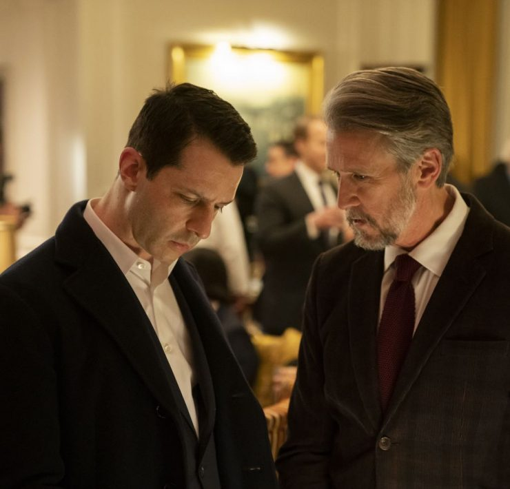 Succession Season 2, episode 2 (debuts 8/18/19): Jeremy Strong, Alan Ruck. photo: Peter Kramer/HBO