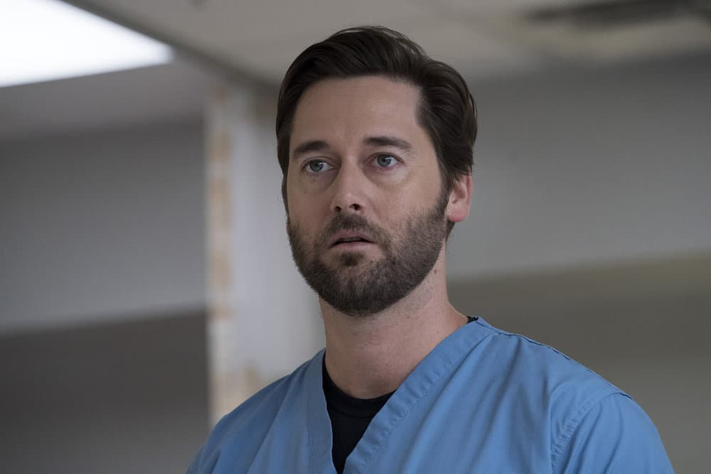 "NEW AMSTERDAM -- ""Your Turn"" Episode 201 -- Pictured: Ryan Eggold as Dr. Max Goodwin -- (Photo by: Virginia Sherwood/NBC)"