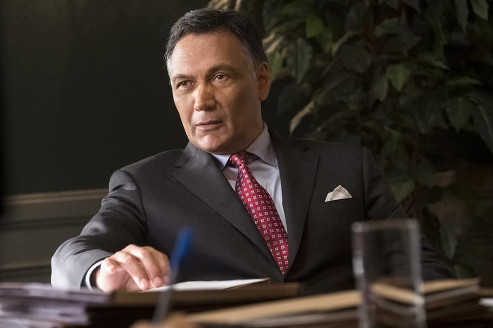 "BLUFF CITY LAW -- ""Pilot"" Episode -- Pictured: Jimmy Smits as Elijah Strait -- (Photo by: Jake Giles Netter/NBC)"