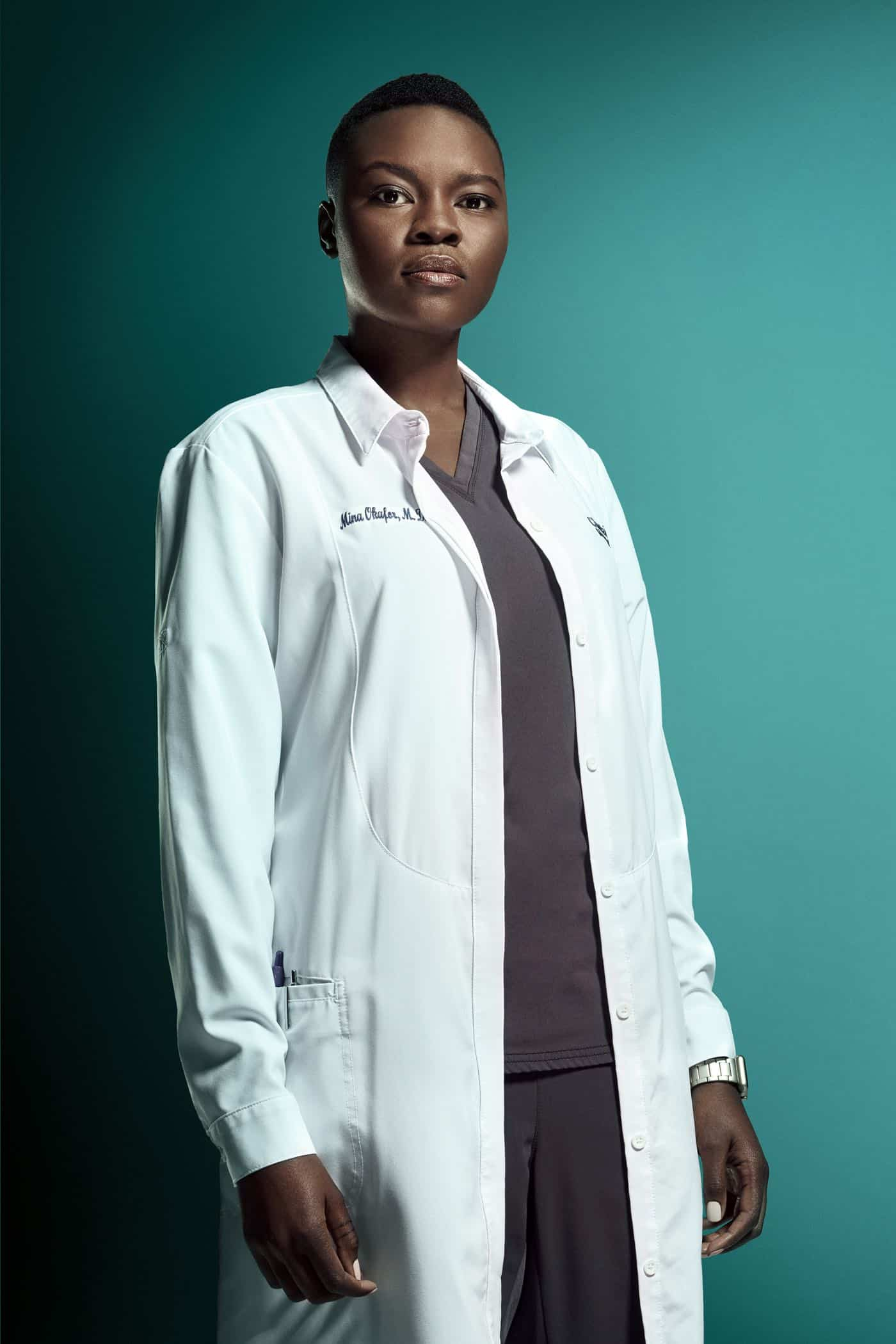 THE RESIDENT:  Shaunette RenÈe Wilson as Dr. Mina Okafor in Season Three of THE RESIDENT premiering Tuesday (8:00-9:00 PM ET/PT) on FOX. ©2019 Fox Media LLC. Cr: Miranda Penn Turin/FOX