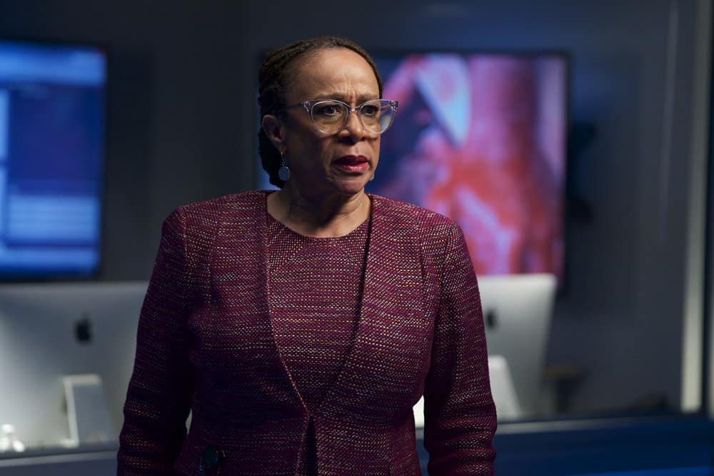 """CHICAGO MED -- """"Never Going Back To Normal"""" Episode 501 -- Pictured: S. Epatha Merkerson as Sharon Goodwin -- (Photo by: Elizabeth Sisson/NBC)"""