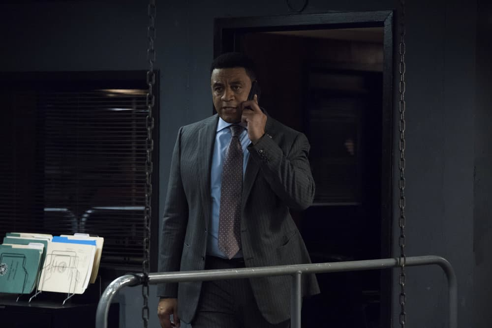 """THE BLACKLIST -- """"Louis T. Steinhil (#27)"""" Episode 701 -- Pictured: Harry Lennix as Harold Cooper -- (Photo by: Virginia Sherwood/NBC)"""