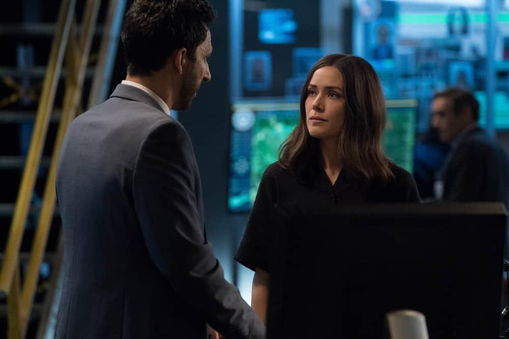 "THE BLACKLIST -- ""Louis T. Steinhil (#27)"" Episode 701 -- Pictured: (l-r) Amir Arison as Aram Mojtabai, Megan Boone as Elizabeth Keen -- (Photo by: Virginia Sherwood/NBC)"